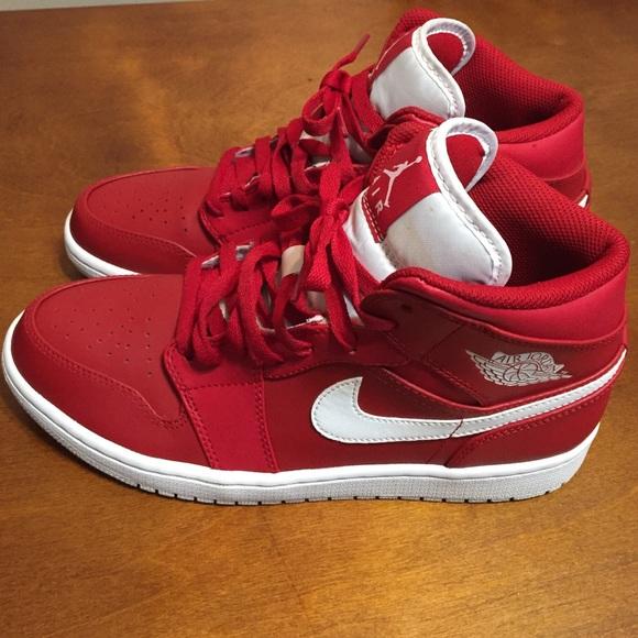 Nike Shoes | Jordan Red N White | Poshmark